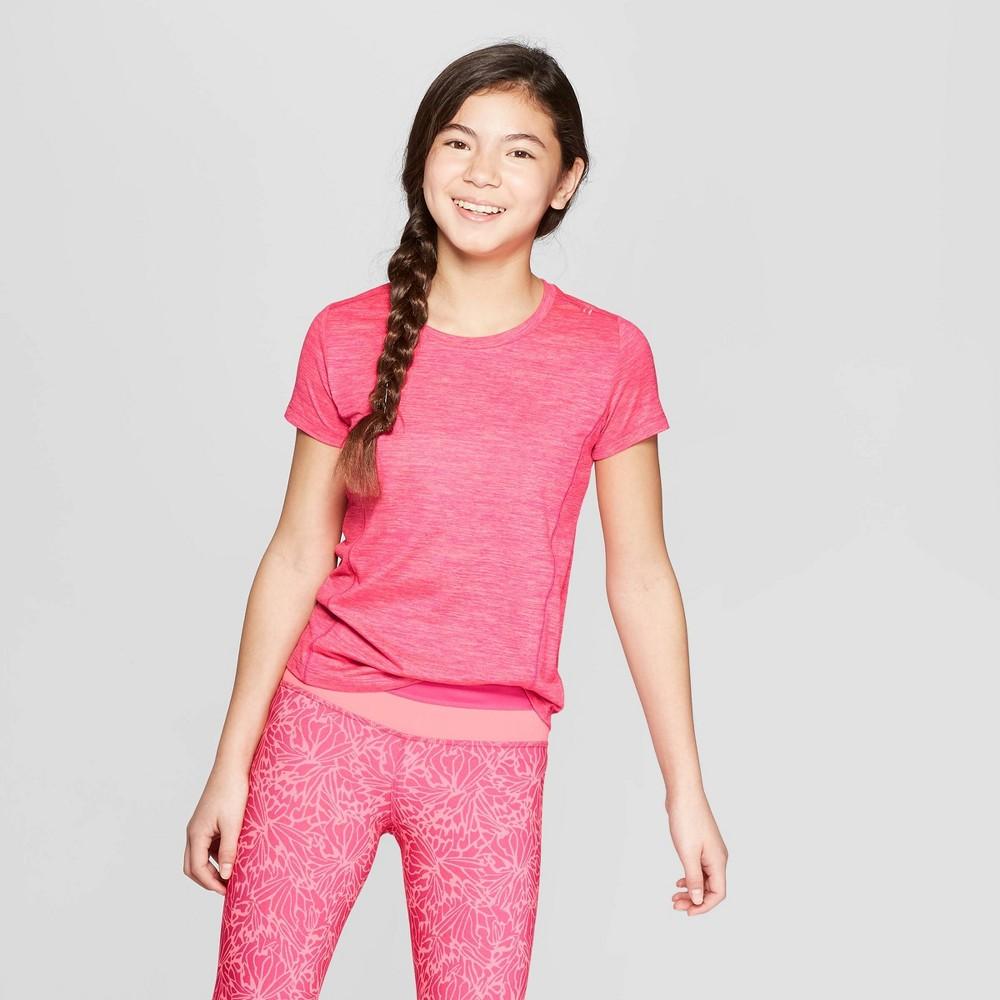 Girls' Super Soft Tech T-Shirt - C9 Champion Fuchsia Pink M, Fuschia Pink
