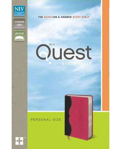 Quest Study Bible : The Question & Answer Bible: New International Version Charcoal / Pink Italian - image 1 of 1