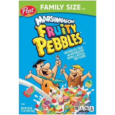 Fruity Pebbles with Marshmallows Cereal - 20oz