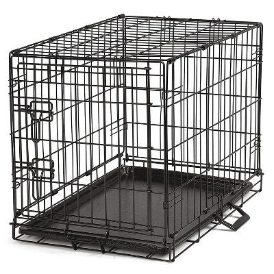 ProSelect Easy Crate XL Collapsible Wire Kennel for Large Dogs and Pets with Removable Tray and Crate Divider, Black