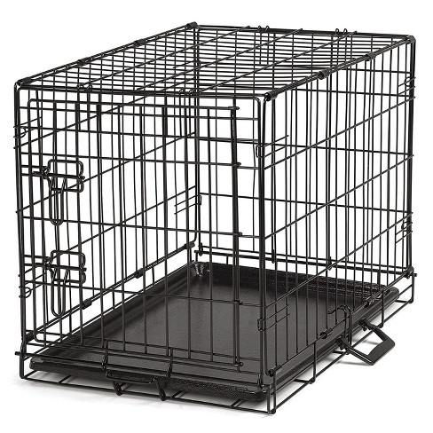 ProSelect Easy Crate XL Collapsible Wire Kennel for Large Dogs and Pets with Removable Tray and Crate Divider, Black - image 1 of 4