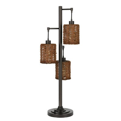 "37.5"" Connell Metal Table Lamp with Shade (Includes Light Bulb) Dark Bronze - Cal Lighting"