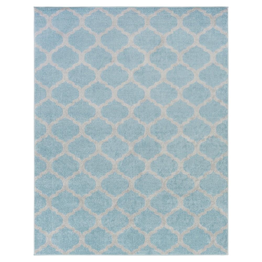 Denim Blue Abstract Tufted Area Rug - (8'X11') - Surya