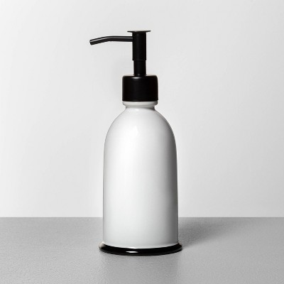 Stoneware Soap Pump White/Black - Hearth & Hand™ with Magnolia