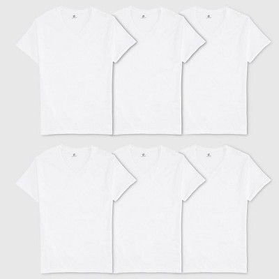 Hanes Men's 6pk V-Neck T-Shirt