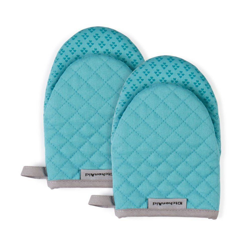 KitchenAid 2pk Asteroid Mini Mitts KitchenAid 2pk Asteroid Mini Mitts Color: Blue. Gender: unisex. Pattern: crosshatch.
