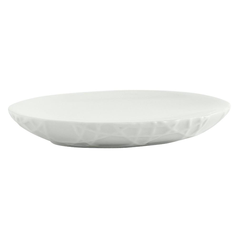 Wicker Soap Dish White Cassadecor