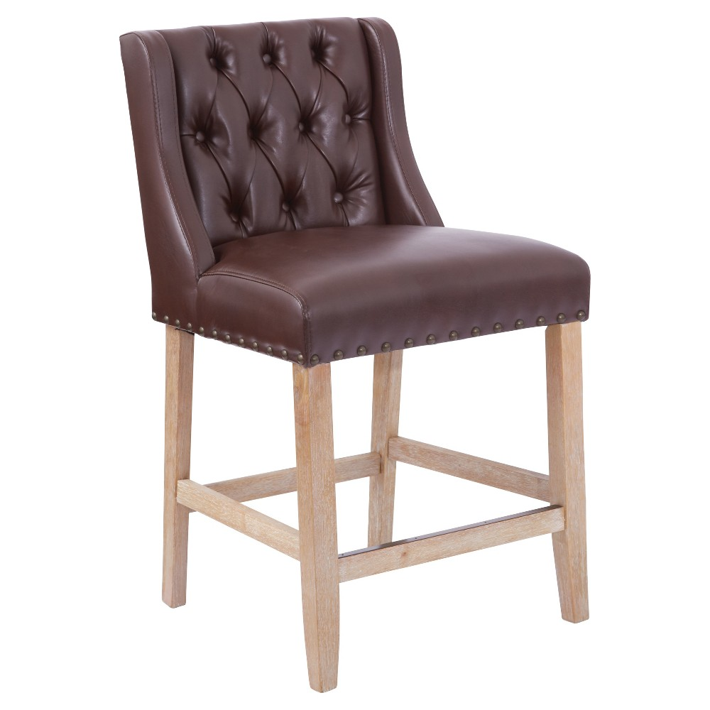 "Image of ""25.75"""" Kate Counter Stool Cocoa - OSP Home Furnishings, Brown"""