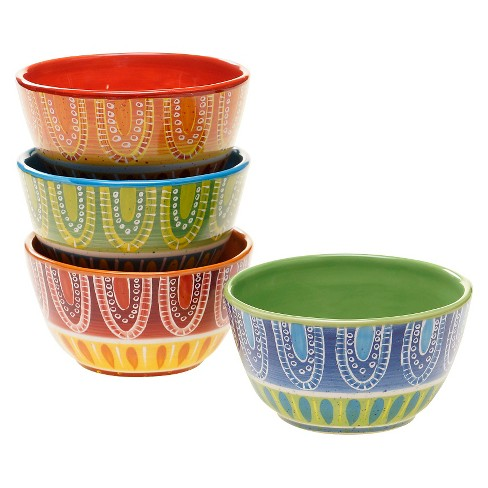 Certified International Tapas Collection Bowls Multi-Color - 22oz Set of 4 - image 1 of 1