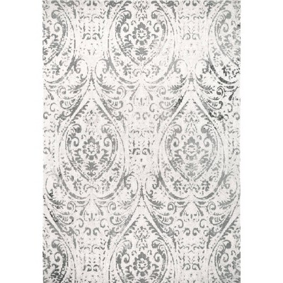 "Sofia Juniper 5'3"" x 7'2"" Outdoor Patio Rug Ivory/Gray - Nicole Miller"