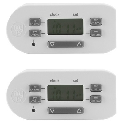 MyTouchSmart 2pk Indoor Simple Set Plug-In Timer