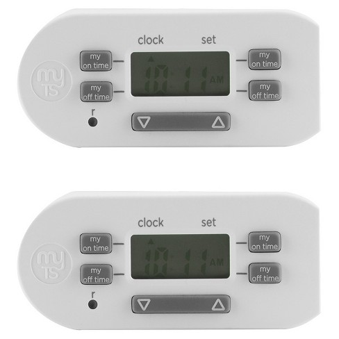 MyTouchSmart™  Indoor Simple Set Plug-In Timer, 2pk - image 1 of 4