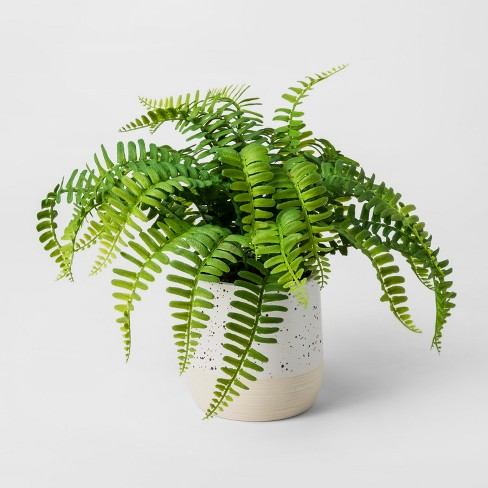Faux Plant Fern - Green - Threshold™ - image 1 of 1
