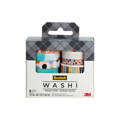 Scotch 8pk Expressions Washi Tape Abstract Modern