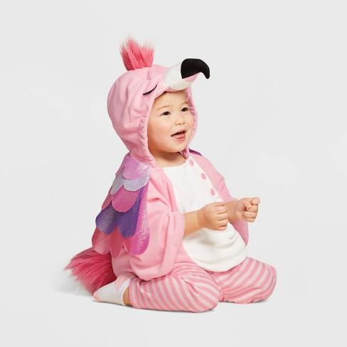 Baby Plush Flamingo Halloween Costume Vest - Hyde & EEK! Boutique™ - image 1 of 1