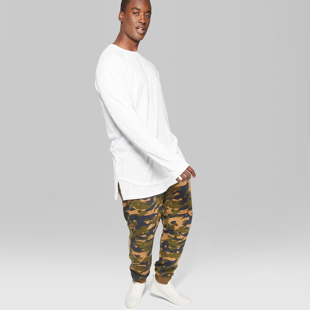 Men's Big & Tall Long Sleeve Layered Slub T-Shirt - Original Use White 3XBT