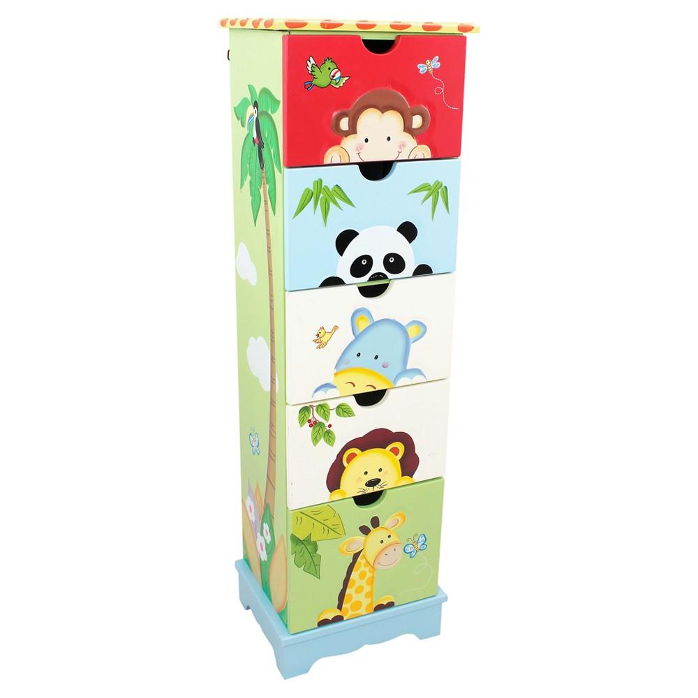 Image of Sunny Safari 5 Drawer Cabinet - Multi - Colored - Fantasy Fields