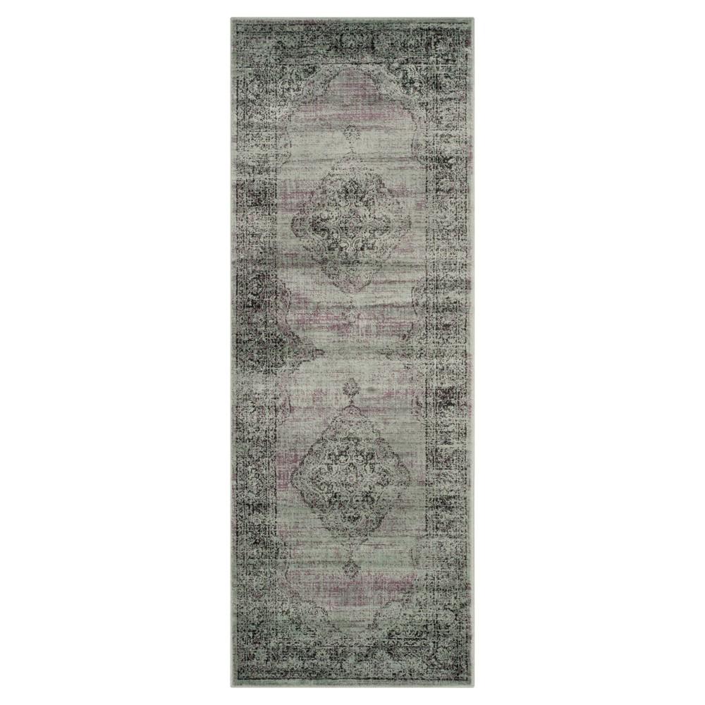 Light Gray Adalene Vintage Inspired Rug (2'2x12' Runner) - Safavieh