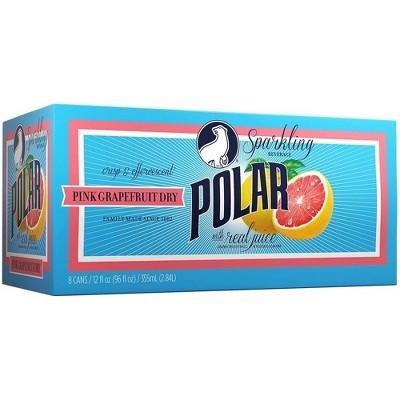 Polar Grapefruit Dry Sparkling Beverage - 8pk/12 fl oz Cans