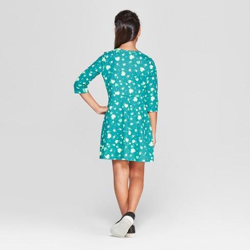 Girls  Printed Shamrock Dress - Cat   Jack™ Green   Target 8118bf197