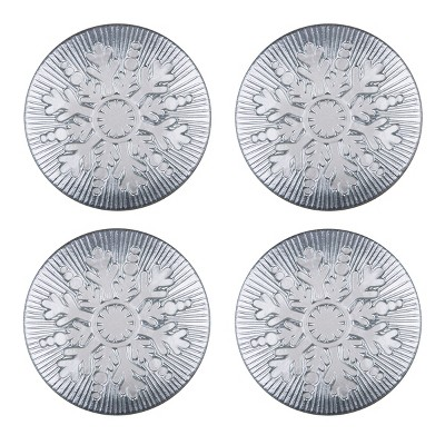 "C&F Home Silver Snowflake Plate 12"" Set of 4"