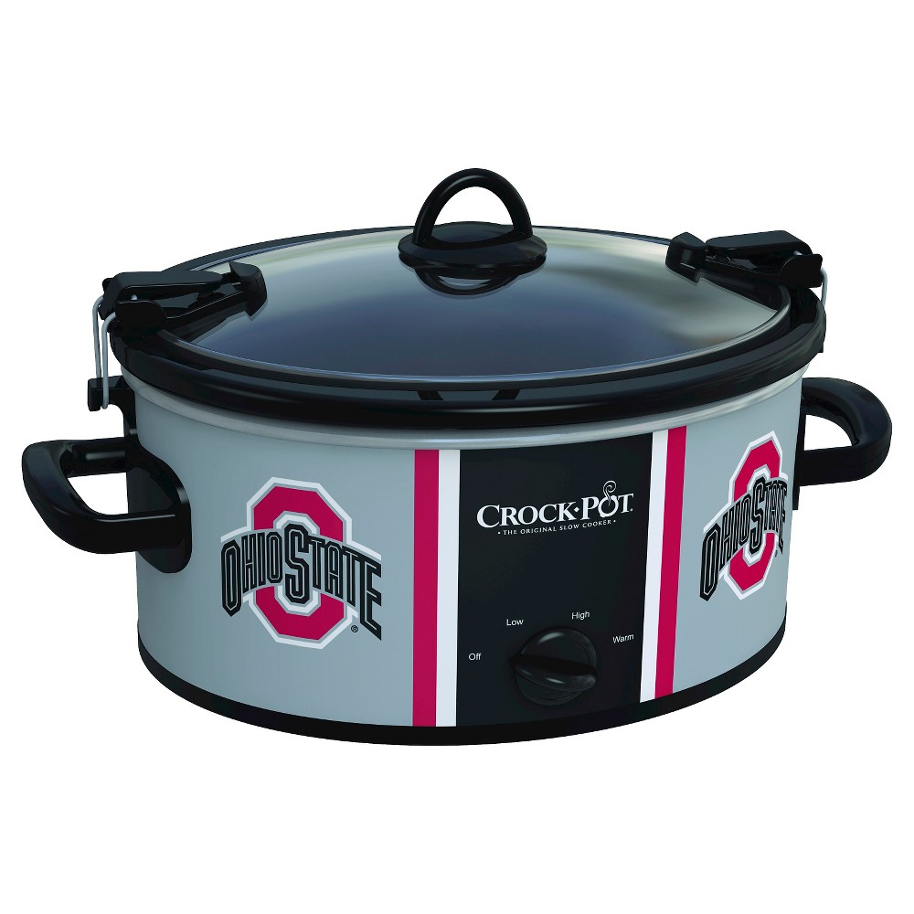 Ohio State Buckeyes NCAA Crock-Pot Cook & Carry Slow Cooker, SCCPNCAA600-Osu, Ohio Red The Crock-Pot Cook and Carry Slow cooker is just as convenient at home in the kitchen as it is on the road. The stoneware transfers easily from your slow cooker to the table or refrigerator. Both the stoneware and the glass lid are dishwasher-safe, making clean-up simple. Crock-Pot Slow Cookers make cooking easy, but the Crock-Pot NCAA Cook and Carry Slow Cooker makes it easy to get your dish from here to there while showing team pride. Color: Ohio Red.