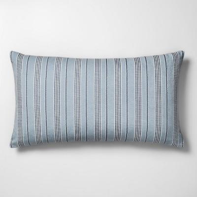Woven Stripe Oversize Lumbar Throw Pillow Blue - Threshold™