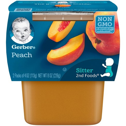 Gerber 2nd Foods Peach Baby Food - 4oz (2ct) - image 1 of 5