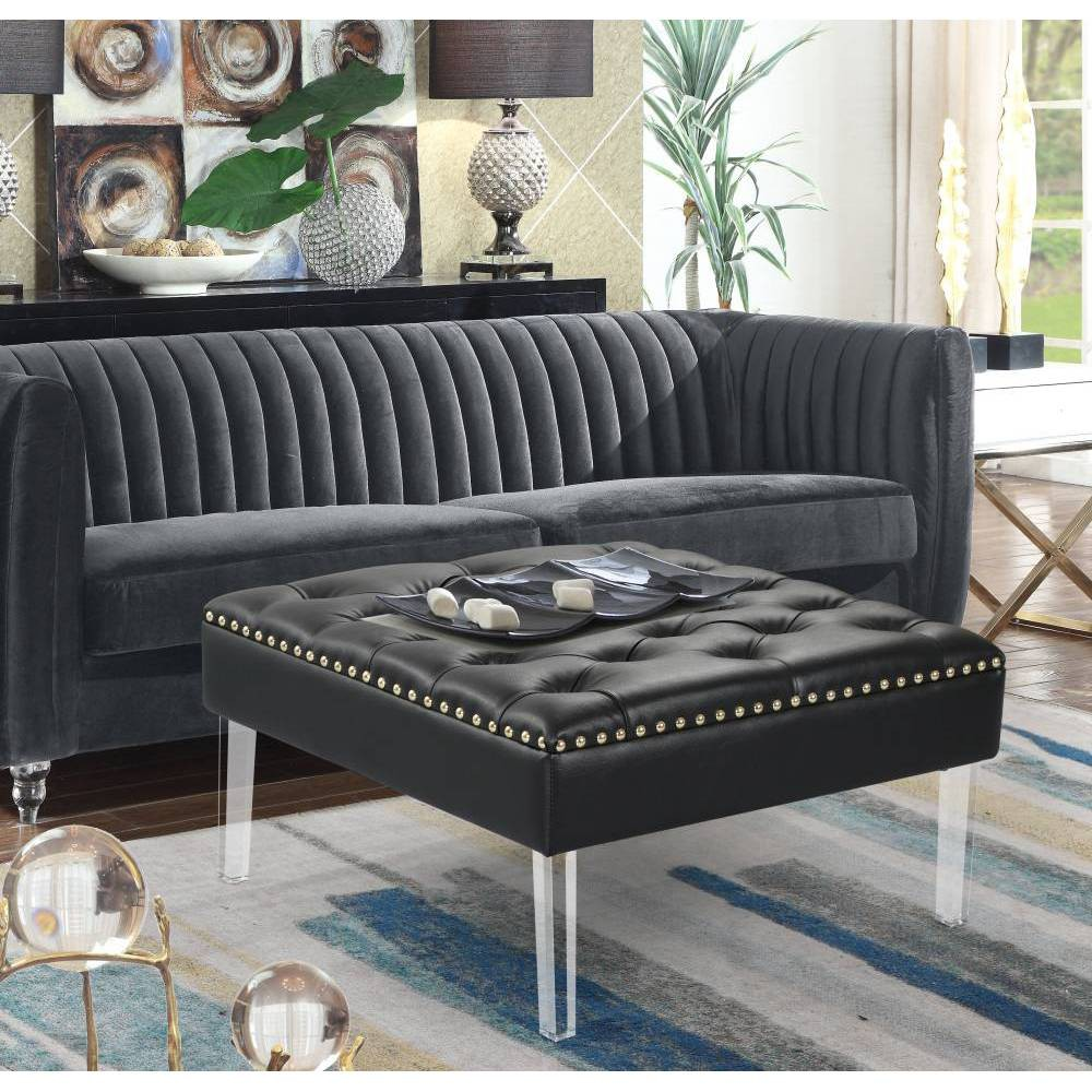 Remi Ottoman Black - Chic Home Design was $299.99 now $209.99 (30.0% off)
