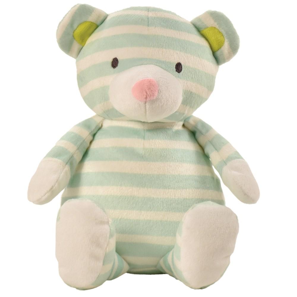 Manhattan Toy Pattern Plush - Bear (Mint Green Stripe)