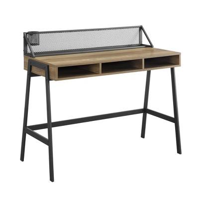 City Chic Urban Industrial Writing Workstation Desk - Saracina Home