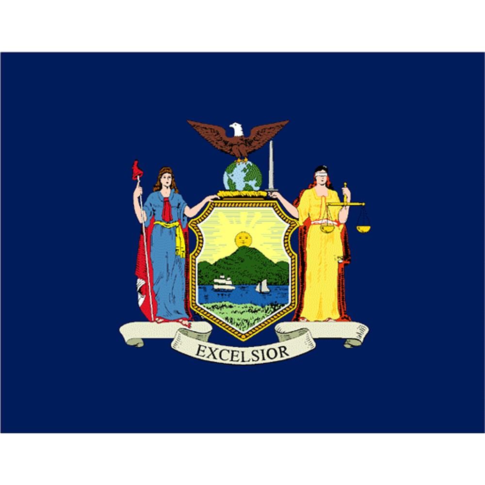Image of Halloween New York State Flag - 3' x 5'