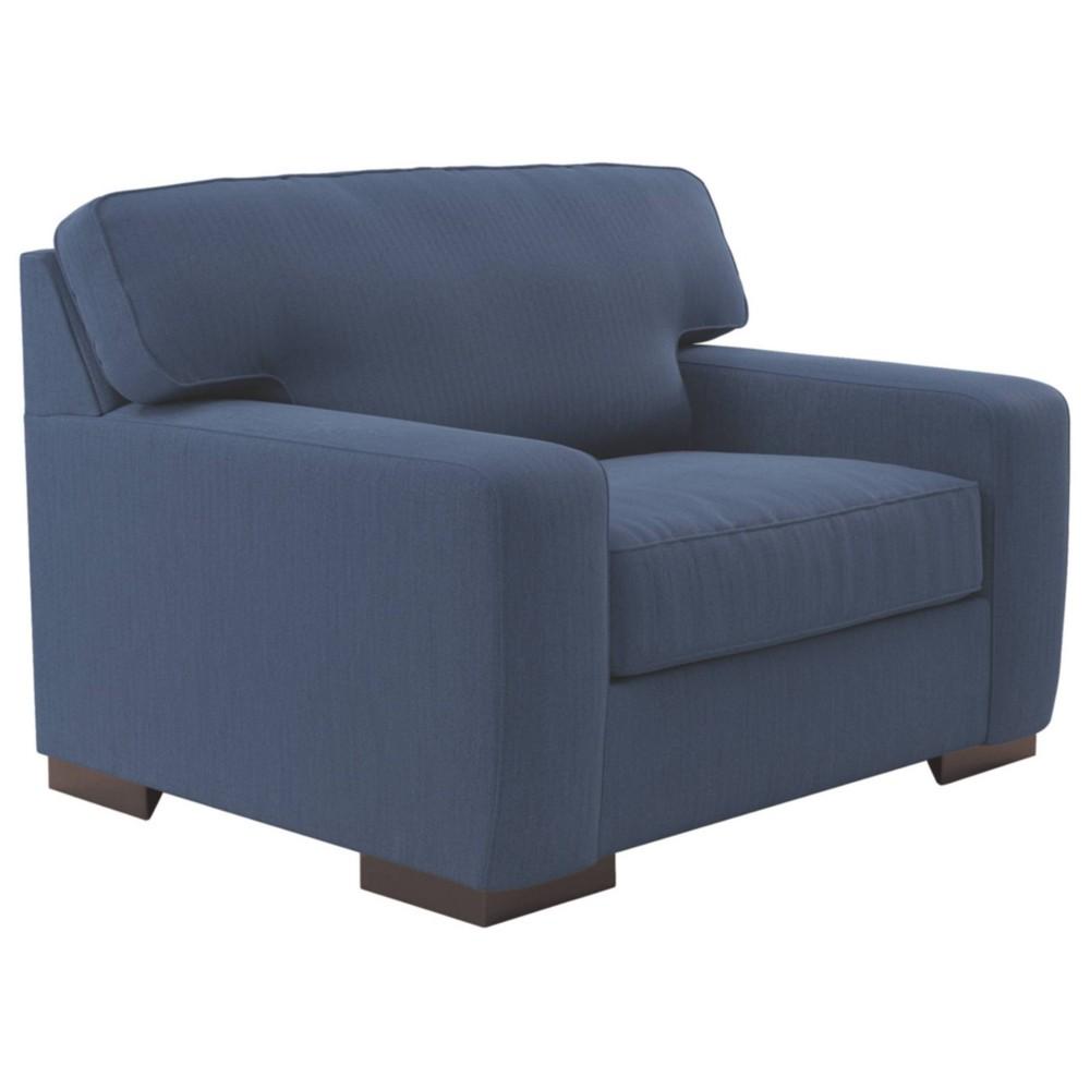 Image of Ashlor Nuvella Oversized Chair Indigo - Signature Design by Ashley, Blue