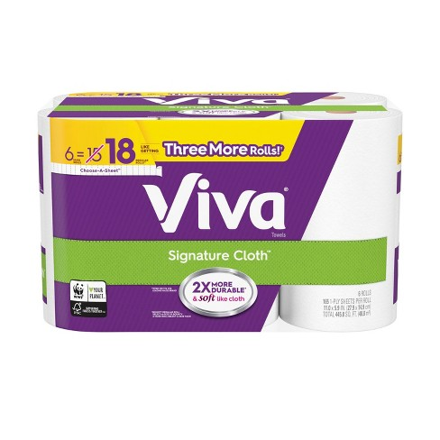 Viva Signature Cloth Choose-a-Sheet Paper Towels – 6 Huge Rolls - image 1 of 4