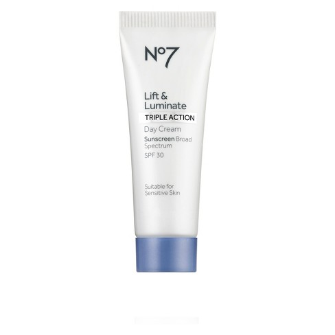 No7 Lift and Luminate Triple Action Day Cream Sunscreen SPF 30 - 0.84oz - image 1 of 3