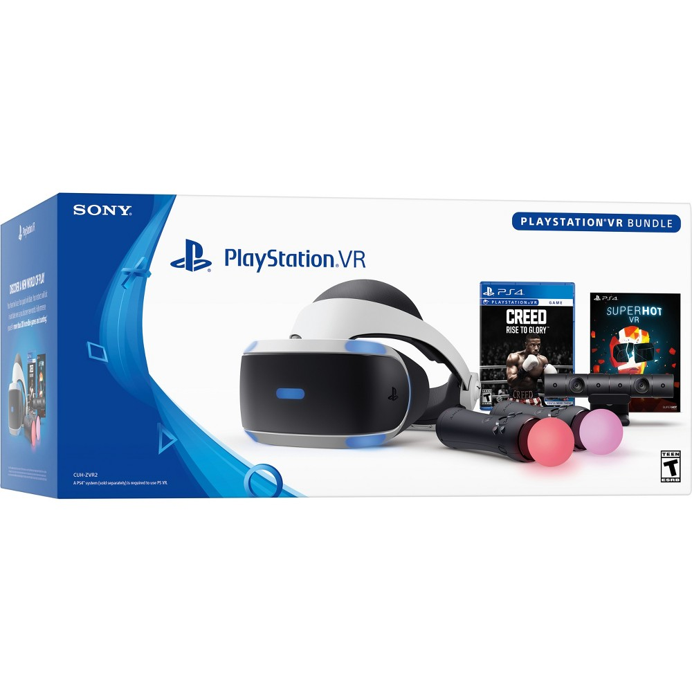 Sony PlayStation VR Bundle with Creed: Rise to Glory & Superhot VR, Black