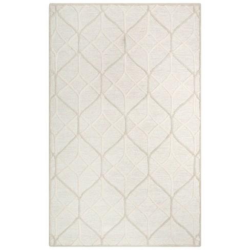 Ava Geometric Wool Area Rug - Rizzy Home - image 1 of 4