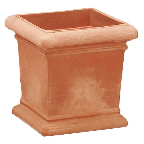 18'' X 18'' Square Dorchester Planter - Weathered Terracotta - Crescent Garden - image 1 of 4