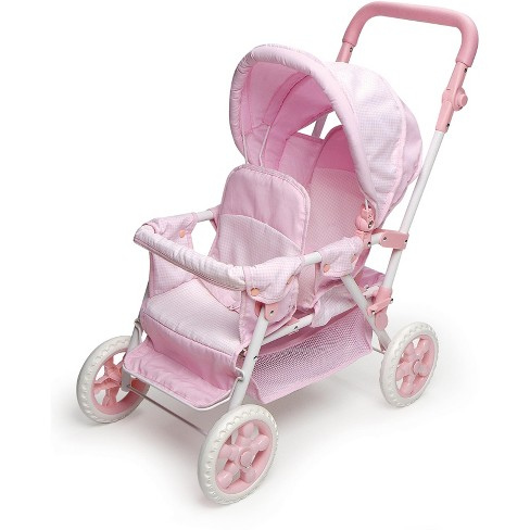 FREE SHIPPING Pink Hauck Twin Doll Stroller Baby Doll Tandem