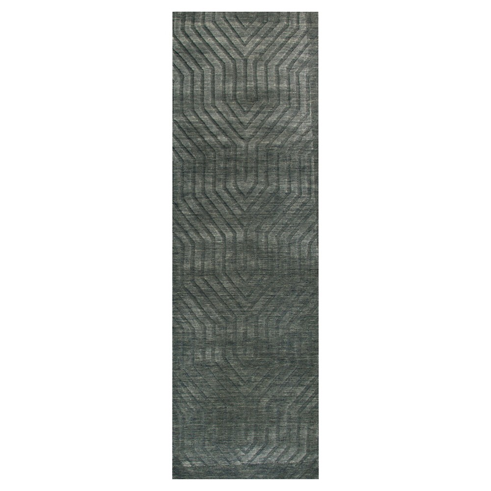 "Image of ""2'6""""X8' Solid Runner Gray - Rizzy Home, Size: 2'6""""X8' RUNNER"""