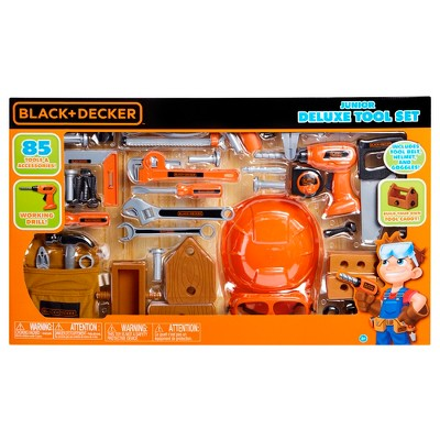 BLACK+DECKER Junior Deluxe Tool Play Set - 85pc