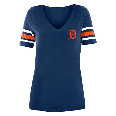 MLB Detroit Tigers Women's Pitch Count V-Neck T-Shirt