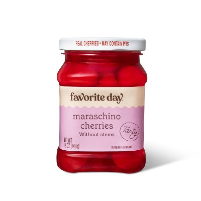 Maraschino Cherries without Stems - 12oz - Favorite Day™