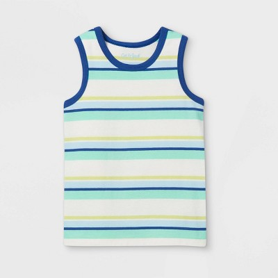 Toddler Boys' Striped Knit Tank Top - Cat & Jack™ Cream