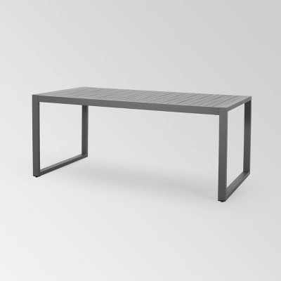 """Navan Rectangle Aluminum 70"""" Dining Table - Christopher Knight Home"""