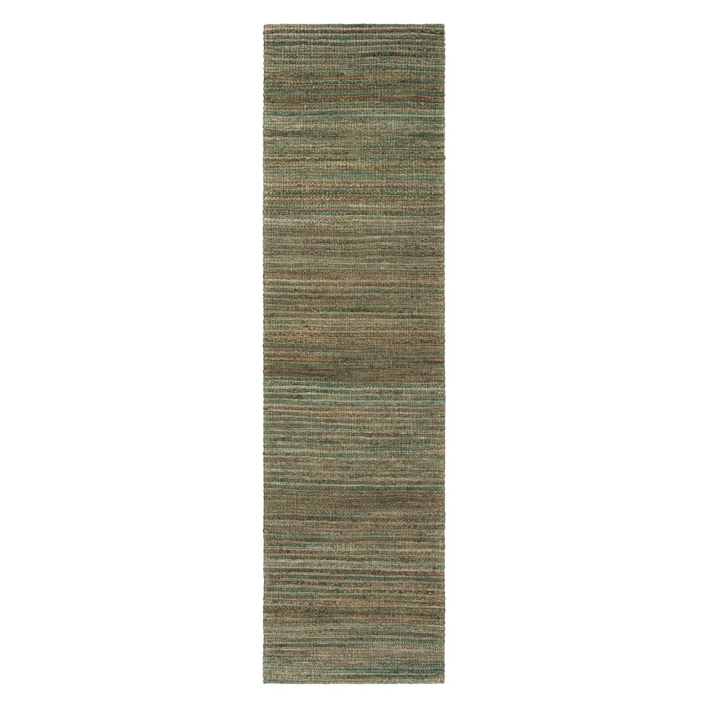 2'2X8' Solid Woven Runner Sage/Natural (Green/Natural) - Safavieh