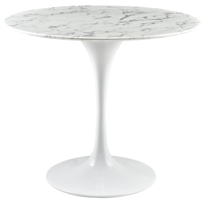 Lippa Round Artificial Marble Dining Table - Modway