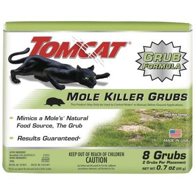 Tomcat Mole Killer Grub Formula Pesticide - 8ct