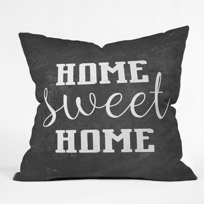 Black Heather Quote Throw Pillow - Deny Designs