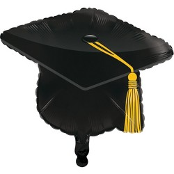 Black Graduation Cap Mylar Balloon